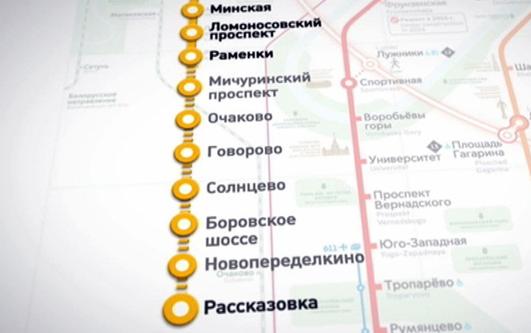 Система АПК-ДК (СТДМ) на новом участке Калининско-Солнцевской линии Московского Метрополитена.